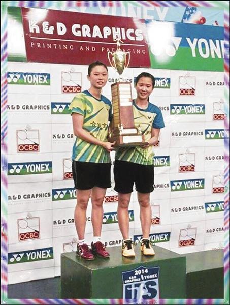 台灣女雙謝沛蓁(右)、吳玓蓉,摘下搭配國際賽以來第一冠。(圖:取自臉書)