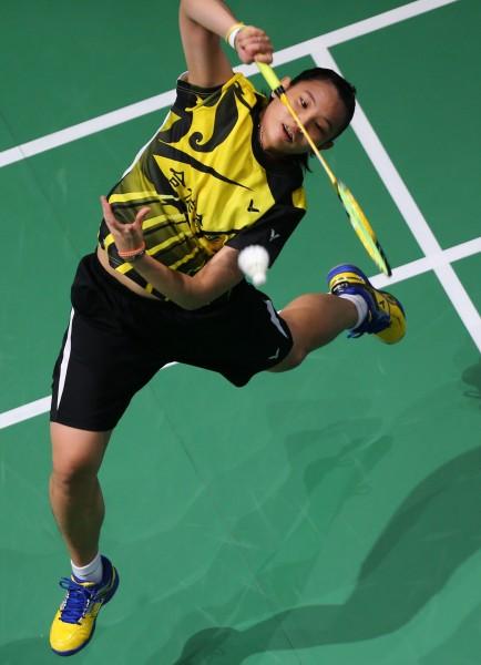 戴資穎在世界羽聯超級系列賽總決賽,以直落二的成績輕鬆擊敗對手奪冠。(法新社)