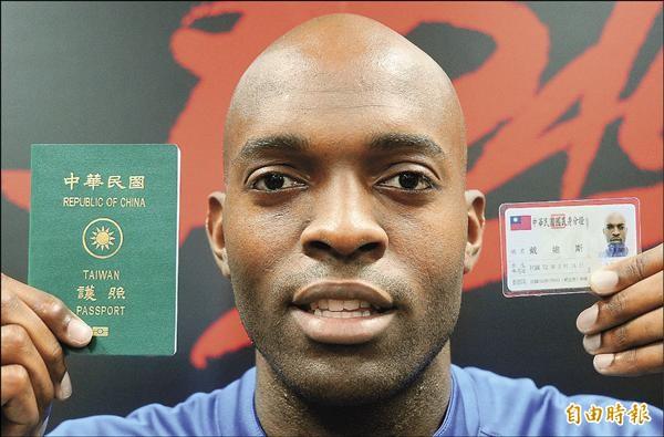 戴維斯2013年成為台灣首位歸化球員。(資料照,記者劉信德攝)