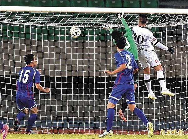 世界盃亞洲區會外賽首輪,汶萊踢進一球,台灣隊爆冷輸球。(記者張忠義攝)