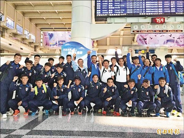 世足賽台灣國家代表隊期盼能有衛星實況轉播,讓國人為他們集氣加油。(記者洪定宏攝)