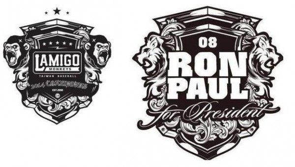 去年Lamigo奪冠後推出的冠軍Logo,也被發現和榮恩保羅獅子的勳章相當雷同。(照片擷自臉書)