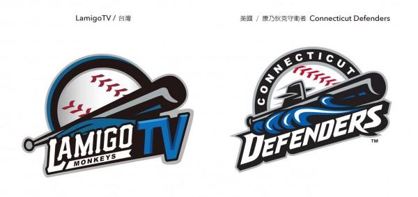 Lamigo TV明日即將開播,不過臉書上「設計是這樣做的嗎?」專頁,發現Lamigo TV的Logo疑似抄襲美國小聯盟康乃狄克守衛者(現改名為里奇蒙鼯鼠隊)。(照片擷自臉書)