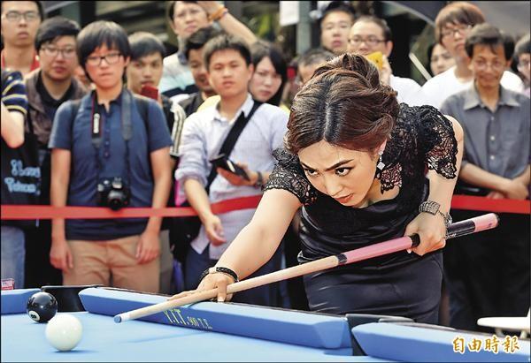 南韓選手車由蘭在趣味障礙挑戰賽中獲勝。(記者廖振輝攝)