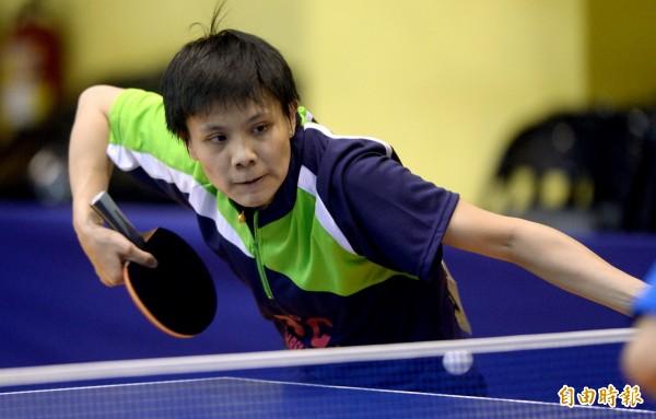 鄭怡靜今天在世桌賽闖進女單16強,創下本土球員最佳紀錄。(資料照,記者林正堃攝)