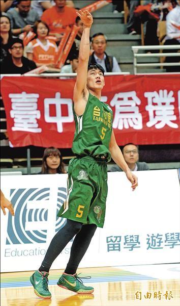 台啤球星劉錚明年有機會赴中國CBA發展。(資料照,記者林正堃攝)
