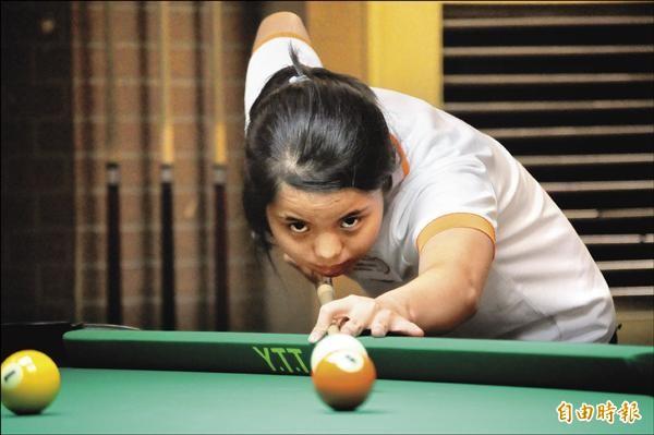 亞洲花式撞球錦標賽陳佳樺拿下青少女組金牌。(記者許明禮攝)