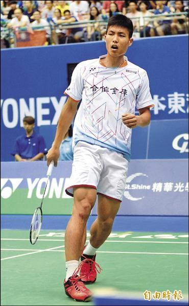 台灣羽球一哥周天成出征印尼參加2015羽球世錦賽,卻在首輪爆冷出局。(資料照,記者林正堃攝)