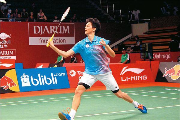 台灣女單白馭珀昨在世界羽球錦標賽擊敗第16種子、地主柯蘇瑪圖蒂,晉級16強。(中央社)