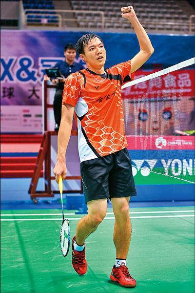 王子維苦戰3局勝出,闖進台北羽球大獎賽決賽。(羽協提供)