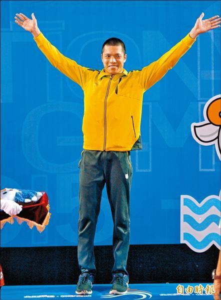 吳浚鋒下個目標是在2018年亞運50公尺蛙式奪金。(記者黃志源攝)