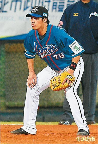 林智平達成三壘手最佳九人獎三連霸,三壘手金手套卻第2度同額入圍又從缺。(資料照,記者陳志曲攝)