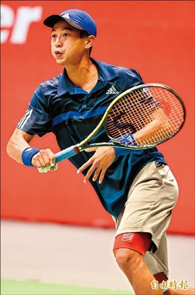 台灣一哥盧彥勳在ATP挑戰賽泰國華欣站男單八強戰吞敗,止步八強。(資料照,記者簡榮豐攝)