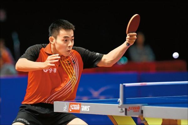 面對泰國對手得分時常吼叫,陳建安刻意低調求穩,以局數4:2拿下關鍵勝利。(法新社)