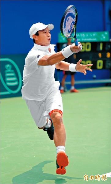 盧彥勳在英國瑟比頓男網挑戰賽,安抵8強。(資料照,記者黃志源攝)