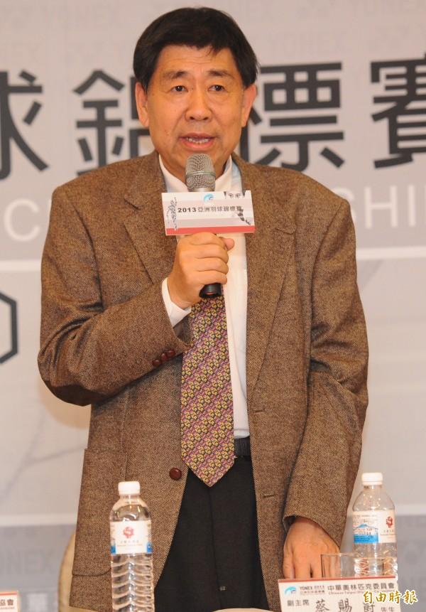 奧運中華代表團副主席蔡賜爵。(資料照)
