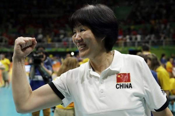 中國女排教練郎平,曾率領美國女排力克中國隊,遭指是「漢奸」。(美聯社)