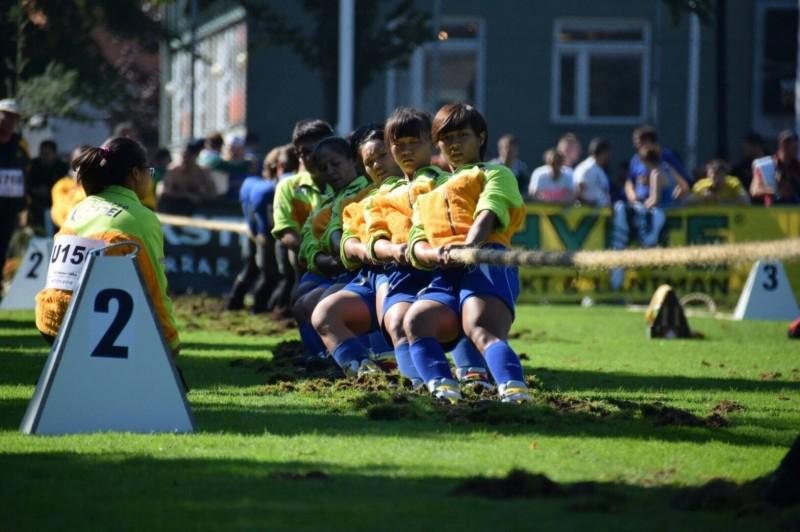 景美女中與台師大聯隊組隊,九月八日至十一日赴瑞典參加世界盃室外拔河賽。(景美女中提供)