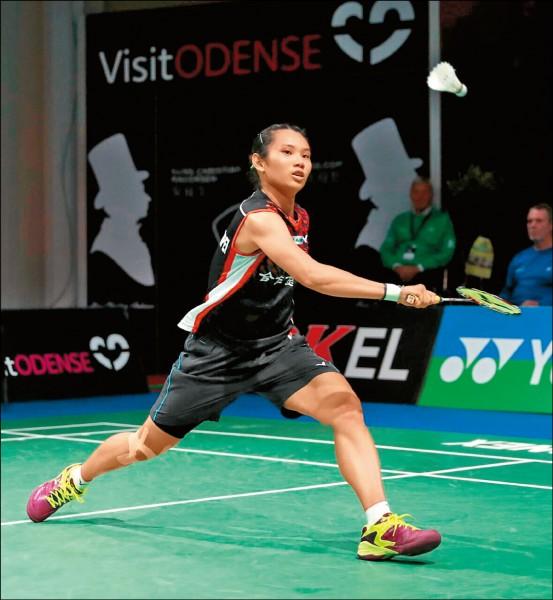 戴資穎以直落二拍落泰國彭蒂,取得女單8強門票。(Badminton Photo提供)