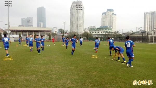 台灣男足正在越南移地訓練,準備亞洲盃比賽。(足協提供)