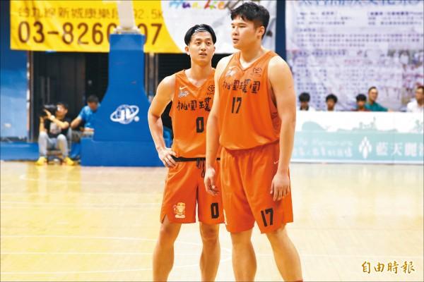 簡偉儒(左)、陳冠全(右)是璞園重返榮耀的重要戰力。(資料照,記者林岳甫攝)