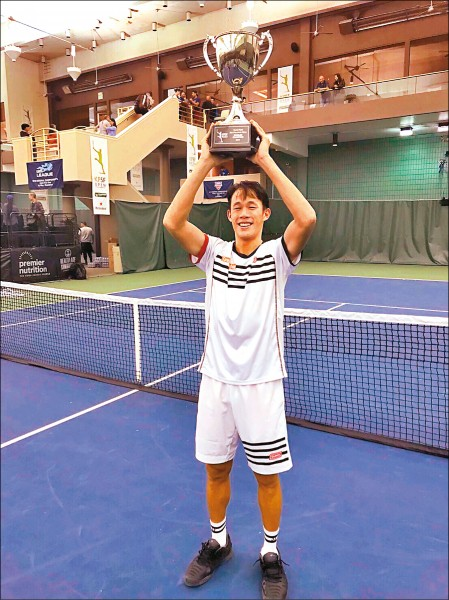 莊吉生摘下舊金山男網挑戰賽冠軍。(莊吉生提供)