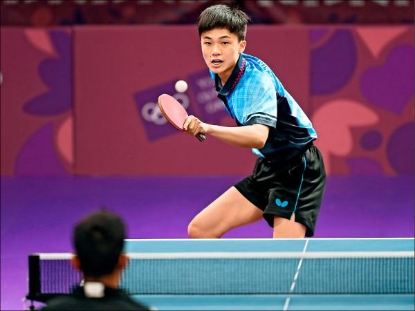 林昀儒昨沒能上演逆轉秀,與銅牌失之交臂。(中央社)