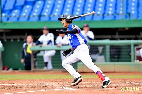 中職聯隊李宗賢2局上一棒清壘3打點,獲選單場MVP。(記者廖耀東攝)