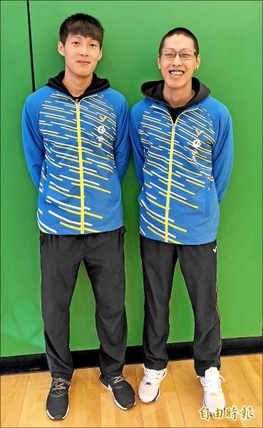李哲輝(右)將與楊博軒合組「暴衝組」。 (記者林岳甫攝)