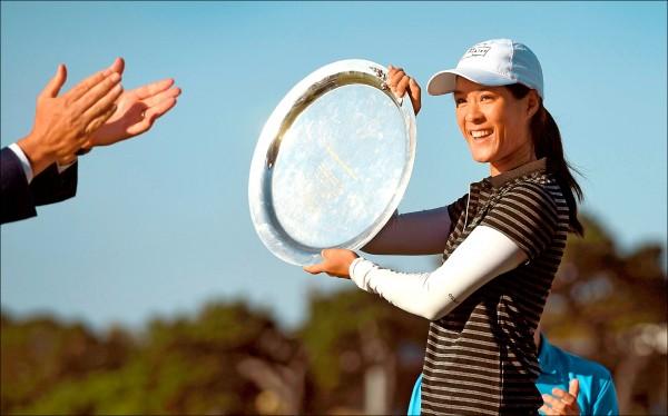 法國好手波蒂兒在澳洲維多利亞公開賽收下LPGA首勝。(法新社)
