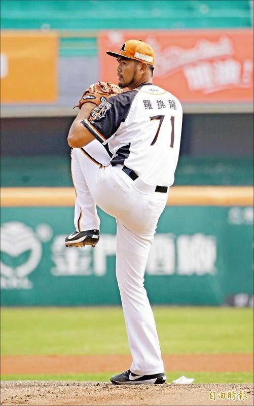 羅錦龍表示,如果動作穩定,球速一定會再提升。(記者黃志源攝)