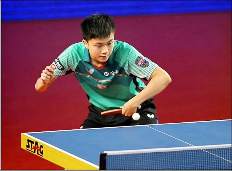 17歲台灣小將林昀儒在阿曼桌球公開賽締3冠王紀錄。(ITTF臉書)