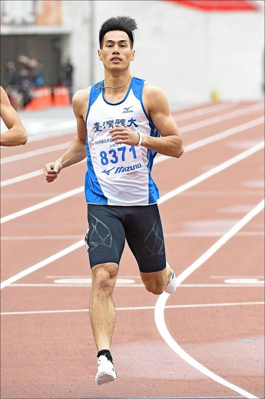 楊俊瀚在原民運200公尺決賽,跑出20秒85,輕鬆奪金。 (資料照)