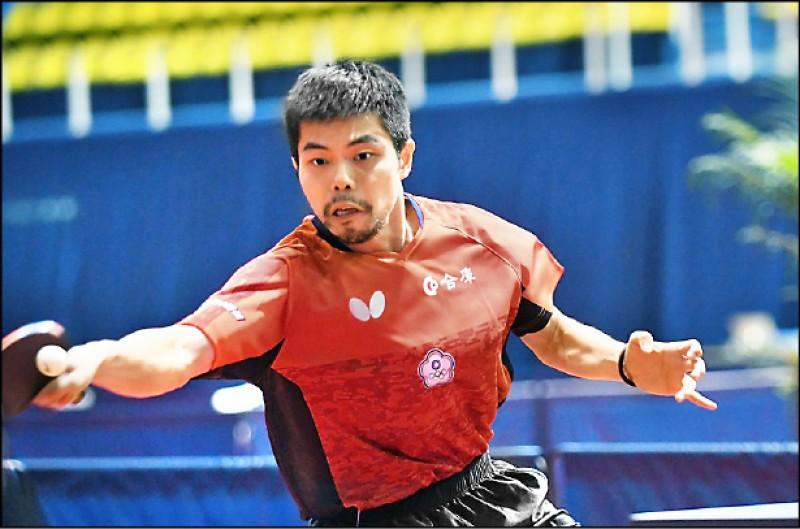 莊智淵爆冷敗給瑞典新秀,無緣冠軍賽。 (取自國際桌總官網)