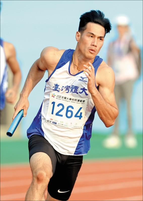 最速男楊俊瀚領軍的400接力隊是奪牌重點。(資料照)