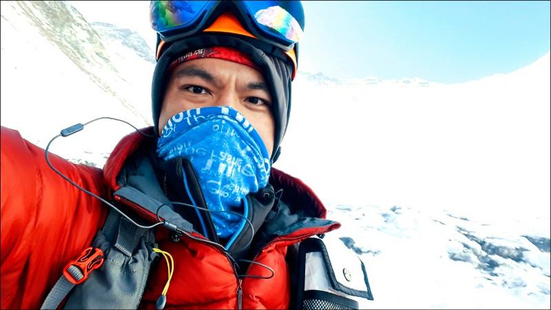 完全沒有登高山經驗的曾文毅,順利完成攻頂聖母峰壯舉。 (取自曾文毅臉書)
