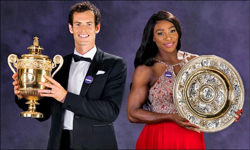 穆雷(左)與小威廉絲將搭檔溫網混雙。(取自ATP官方網站)