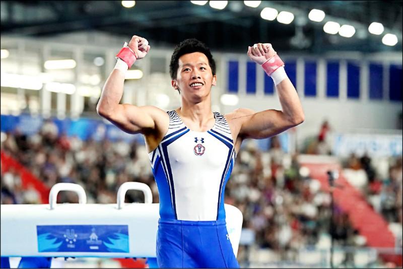 「鞍馬王子」李智凱昨在拿坡里世大運強勢衛冕金牌。(圖:大專體總提供)