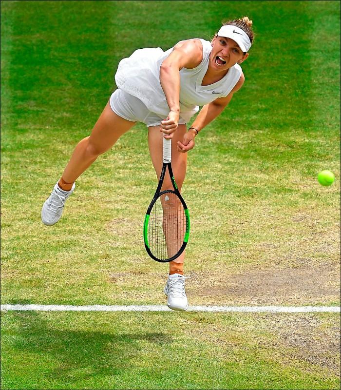 生涯首闖溫網決賽的哈勒普。(美聯社)