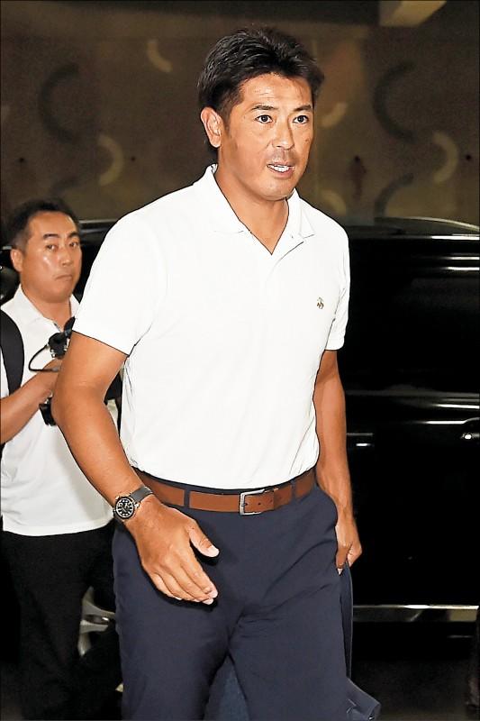 日本隊監督稻葉篤紀來台勘察12強賽球場,點名要提防4名台灣選手。(資料照)