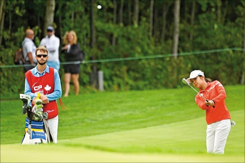 LPGA加拿大女子公開賽,徐薇淩第3回合暫居第4名。(取自徐薇淩臉書)