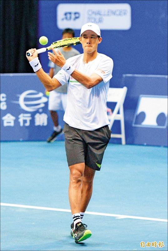 台灣選手莊吉生未能突破16強魔咒。(記者黃志源攝)