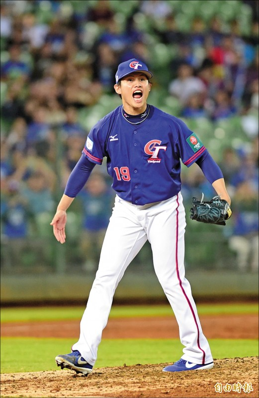 際賽初登板的張奕昨先發7局無失分,率台灣隊以3:0完封委內瑞拉。(記者廖耀東攝)