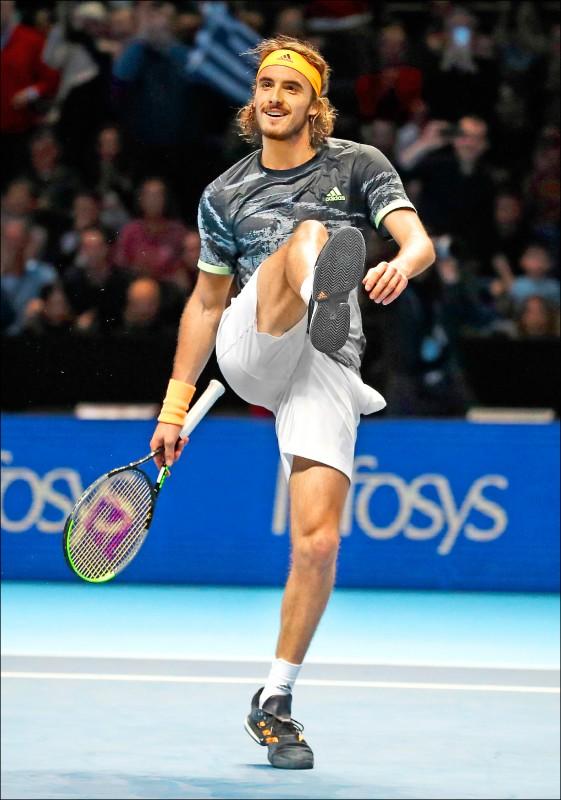 希臘超級新星西西帕斯昨再挫費德爾,晉級倫敦ATP年終總決賽冠軍戰。(美聯社)