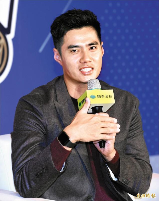 陳偉殷返台記者會,會中表示他不輕易認輸,即使開季從小聯盟出發也沒問題。(記者廖振輝攝)