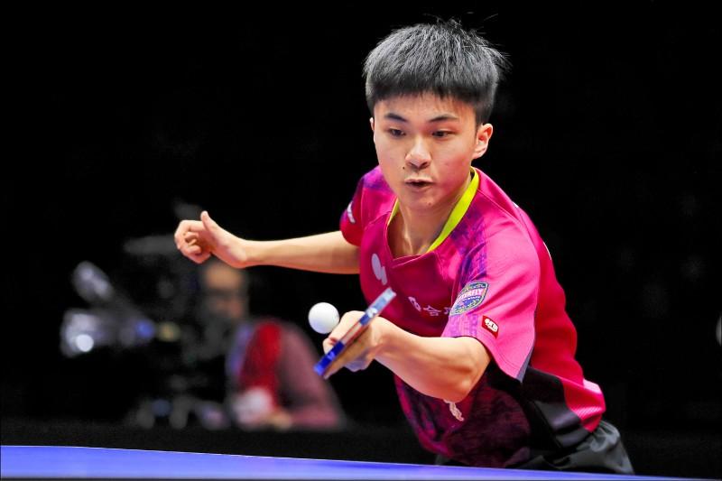 18歲小將林昀儒昨在2019男子世界杯桌球賽銅牌戰以4:3扳倒里約奧運金牌、中國名將馬龍,首次參賽就為台灣奪下首面世界杯獎牌。(歐新社)