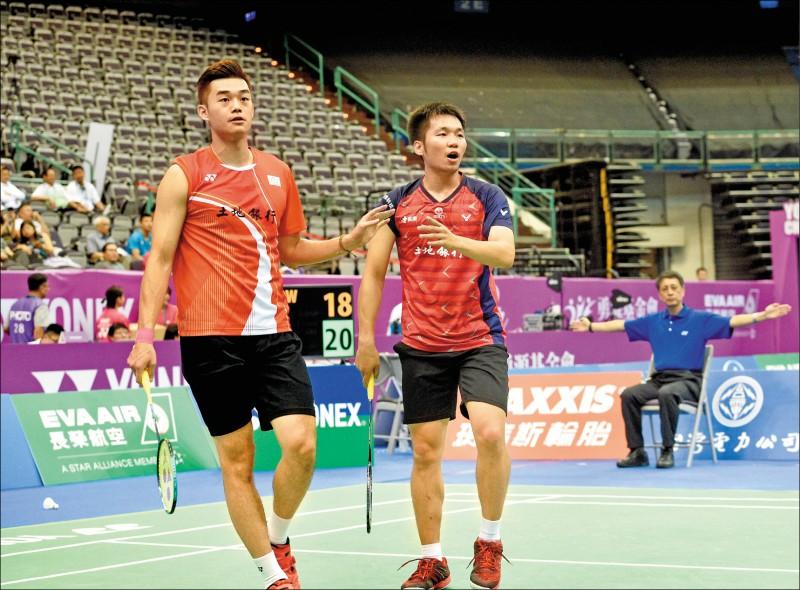 李洋(右)、王齊麟合拍首季就斬獲4冠,是台灣隊最大贏家。(資料照)
