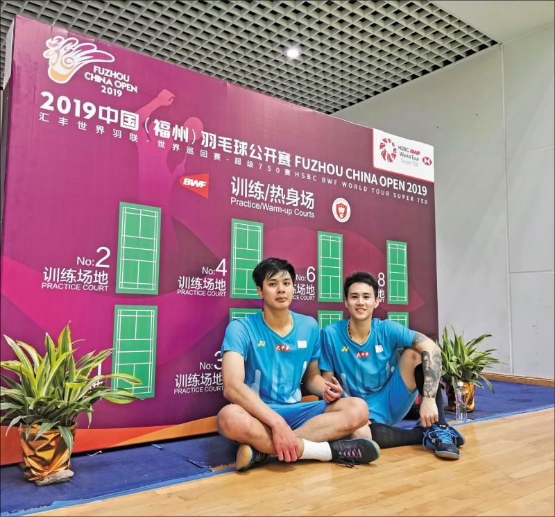 羽球男雙組合盧敬堯(左)與楊博涵(右),開啟YouTuber人生獲好評。(取自楊博涵臉書)