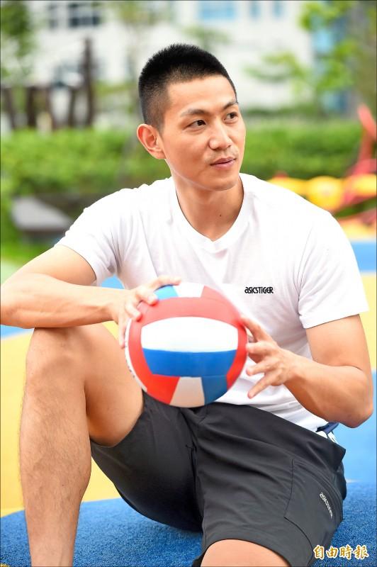 旅日排球好手陳建禎對兄弟王朝印象深刻。(資料照,記者簡榮豐攝)