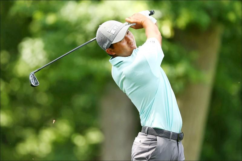 首次在PGA火箭信貸菁英賽登場,潘政琮首回合揮出73桿。(法新社)
